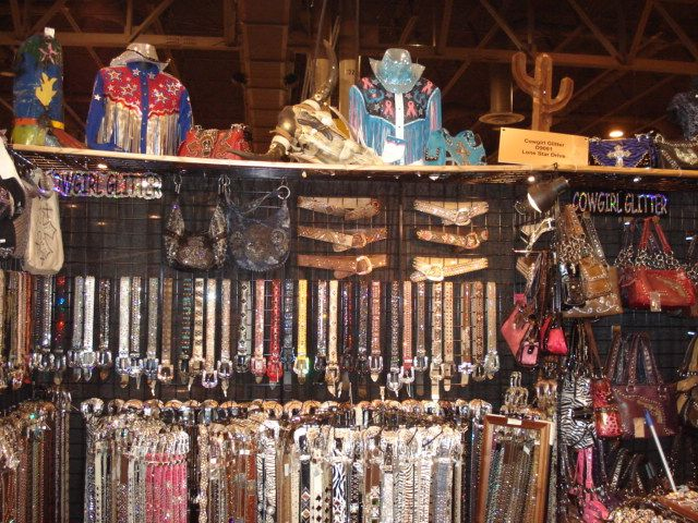 Cowgirl Glitter Store with merchandise displayed